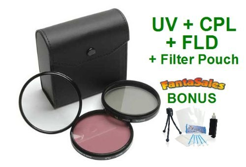 58Mm Digital Pro High-Resolution Filter Kit For The Canon Eos Rebel T5I, T5 Cameras With 18-55Mm Lens. Includes Multi-Coated 3 Pc Filter Kit (Uv, Cpl, Fld), Deluxe Filter Carry Case, + Bonus Ultrapro Bundle: Cleaning Kit, Lcd Screen Protector, Mini Tripod