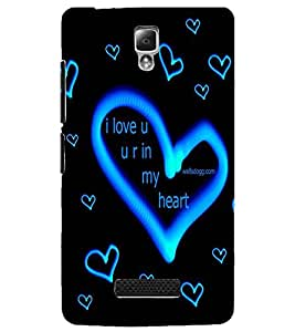 PrintDhaba Love D-2272 Back Case Cover for LENOVO A2010 (Multi-Coloured)