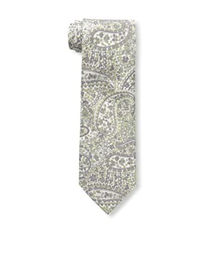 Rossovivo Men's Paisley Tie, Purple/Taupe