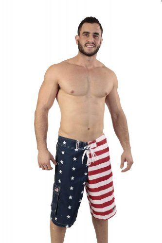 Patriotic American USA FLAG Board Shorts/Swim Trunks