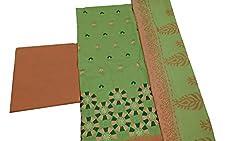 Alankar textiles Green Cotton Dress Material