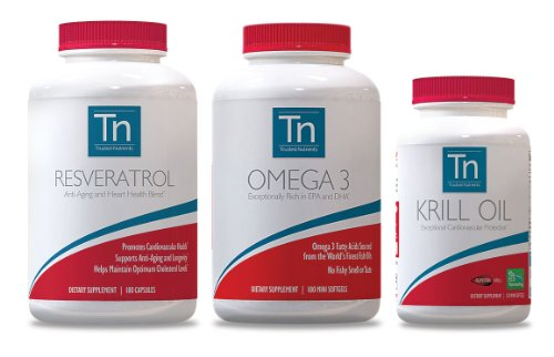 Trusted Nutrients Resveratrol: 1000 Mg, Omega-3 Fishoil: 1800Mg & Krill Oil: 1000Mg. Heart Health And Anti-Aging. Keep Your Heart Pumping Stronger And Longer