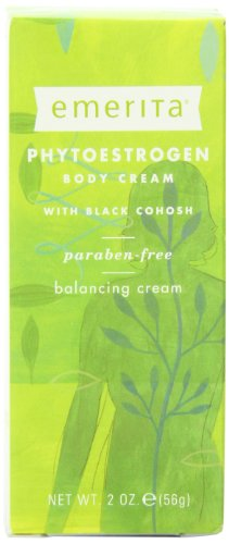 Emerita Phytoestrogen Body Cream with Black Cohosh, 2-Ounce Tube