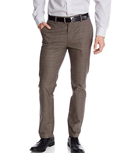 Dockers Pantalón de Vestir D0 - Extra Slim Marrón Oscuro