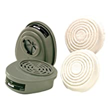 MSA Safety Works 817666 Replacement Cartridges and Pre-Filters for Paint and Pesticide Respirator