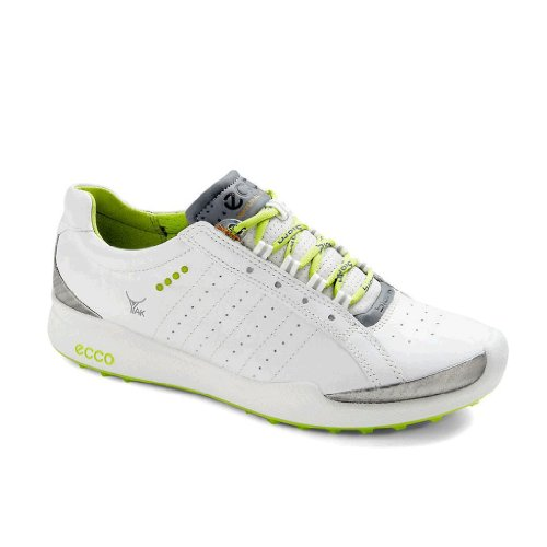 ECCO, Women's Biom Hybrid Golf Shoe 100503 55365 White/Lime Punch