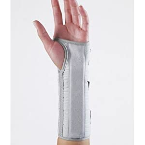 Forearm Tendonitis Brace and Orthopedic Wrist Support -Gray-XL-Left by Corflex