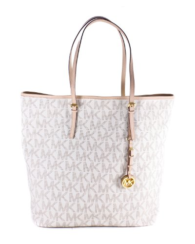 MICHAEL Michael Kors Jet Set North/South Travel Tote Handbags - Bone