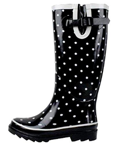 SunVille Women's Ditsy Dots Rubber Rainboot and GardenBoot