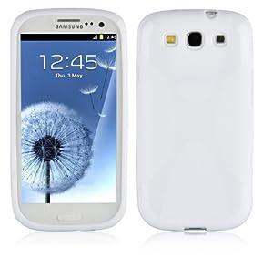 Cadorabo ®! X-TPU Silikon Schutzhülle für Samsung Galaxy S3 und S3 NEO I9300 in weiß