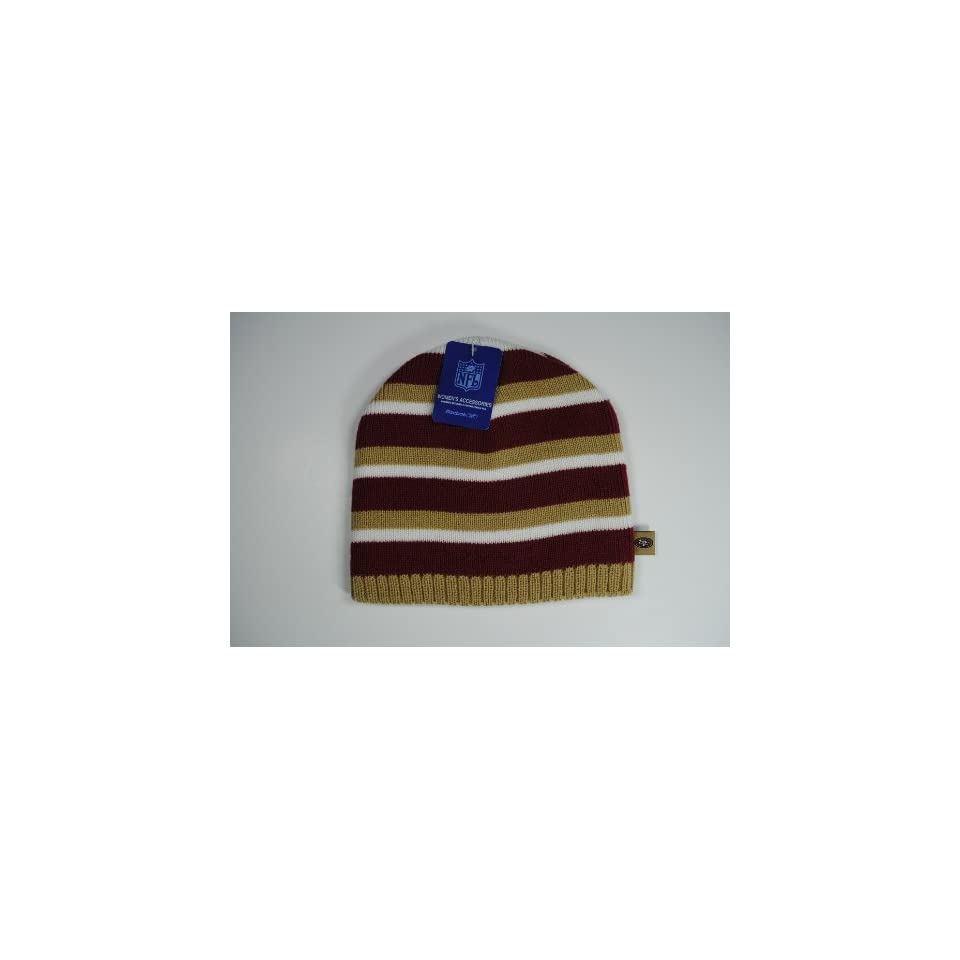 42bcdf5e587 San Francisco 49ers Womens Team Color Stripes Beanie Cap Winter Hat ...