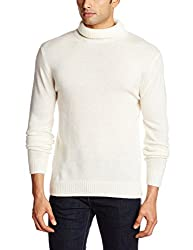 French Connection Men's Blended Sweater (886928665619_58EPE_Small_Milk)