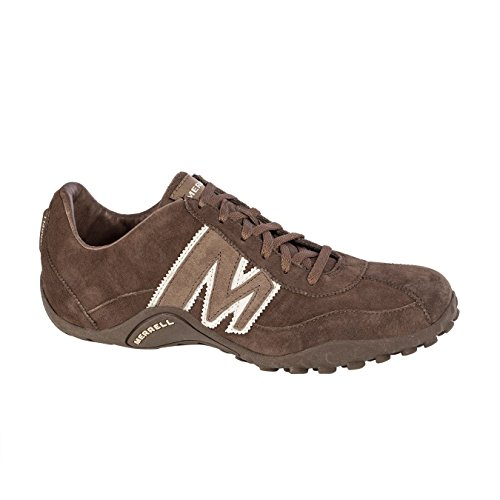 <p>The Sprint Blast trainers from Merrell have a full grain leather upper, pigksin collar and tongue lining with rubber</p>