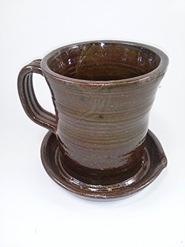 Aunt Chris' Pottery - Unique New Way of Cooking Bacon - Primitive Amber Brown Glazed Colored (Glazed Cast Iron compare prices)
