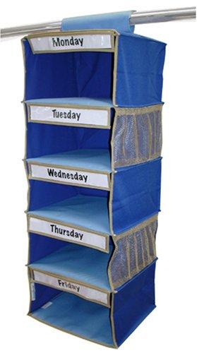 Kangaroom 5-Shelf Kids Clothes Organizer, Blue