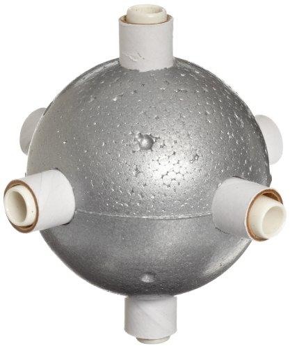 "Molecular Models Silver Polystyrene Octahedral Metal Atom Center, 2"" Diameter"