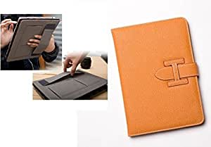 "For Galaxy Tab 4 7.0 inch Case Cover {Tan Color} With Holding Strap Leather Book Flip Case Cover For tab4 Tab 4 7.0"" inch SM-T230 SM-T231 SM-T235 Flip Case Cover with Stand (Only for Tab 4 7inch)"
