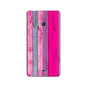 Motivatebox- Pink Wood Shade Premium Printed Case For Nokia Lumia 540 -Matte Polycarbonate 3D Hard case Mobile Cell Phone Protective BACK CASE COVER. Hard Shockproof Scratch-