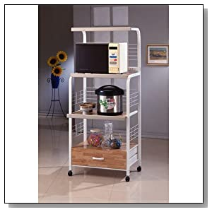 Microwave Utility Shelf on Casters