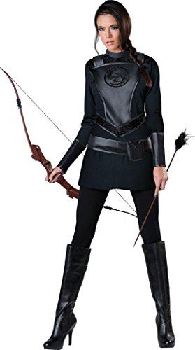 InCharacter Costumes Women's Warrior Huntress Costume, Black, X-Large