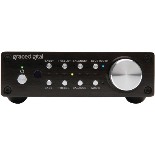 Grace Digital GDI-BTAR512 100-Watt Digital Integrated Stereo Amplifier with Built-In AptX Bluetooth Wireless Receiver (Black)