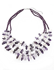 M&S Collection Assorted Chip & Bead Multi-Row Necklace