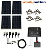 WindyNation 400 Watt Solar Panel Complete Off-Grid Kit