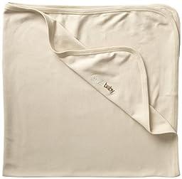 L\'ovedbaby Unisex-Baby Newborn Organic Swaddling Blanket, Beige, one size
