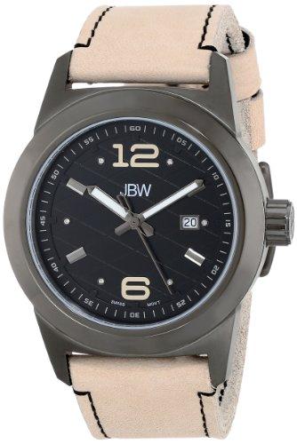 JBW  J6290B - Reloj de cuarzo para hombre, con correa de cuero, color beige