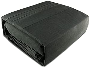Yellowstone Classics ® - 1500 Thread Count Wrinkle Resistant - Egyptian Quality Ultra Soft Luxurious Sheet Set (Black, Queen)
