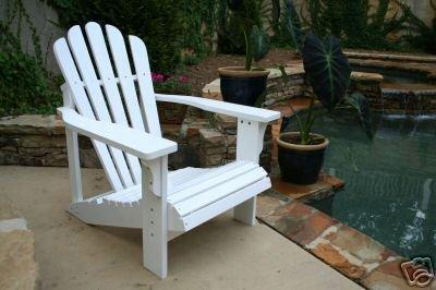 Cedar Adirondack Chair - White