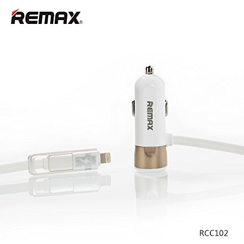 Remax-RCC-102-3.4A-Dual-Micro-USB-&-Lightning-Car-Charger