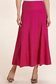Per Una Pure Linen Panelled Skirt [T62-5528H-S]