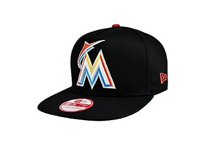 New Era Men's 9fifty Miami Marlins Hat Flip up Size S/m Snapback Headwear