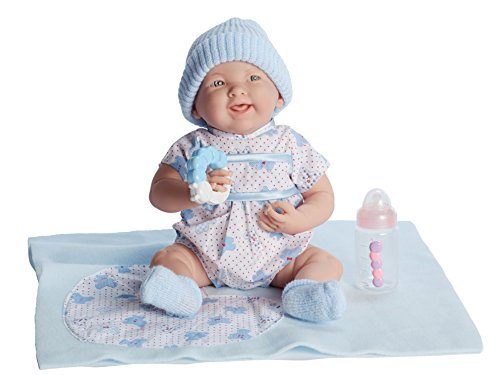 "Jc Toys La Newborn 15.5"" Doll Gift Set, Blue"
