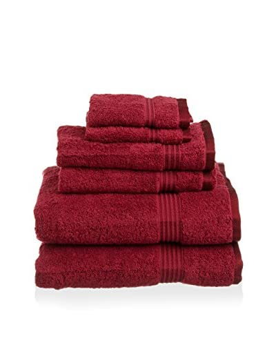 Superior 6-Piece 600 GSM Egyptian Cotton Towel Set, Burgundy