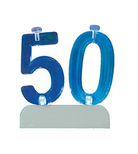 Flashing Number 50 Cake Topper & Birthday Candle Set, 5pc - 1