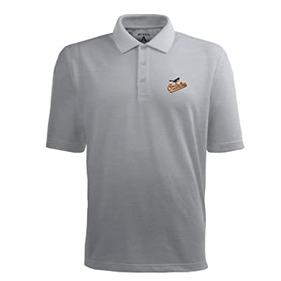 MLB Men's Baltimore Orioles Pique Xtra Lite Desert Dry Polo