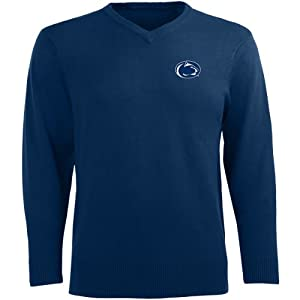 Antigua Mens Penn State Nittany Lions Ambassador Knit V-Neck Sweater by Antigua