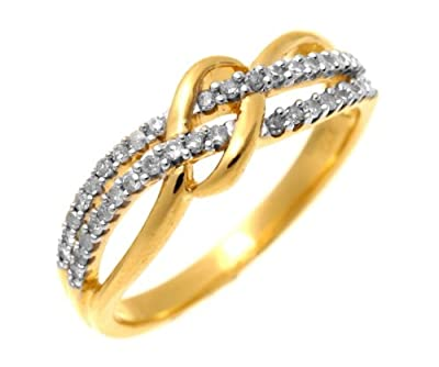 Ariel 9ct Yellow Gold 0.20ct Diamond Fancy Curve Eternity Ring