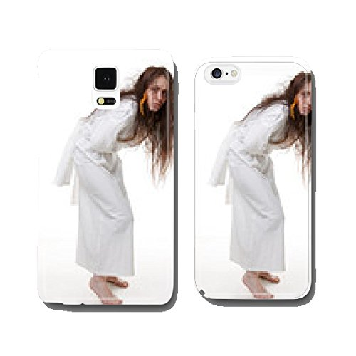 Portrait of a crazy woman in a straitjacket cell phone cover case Samsung S5 (Women Straitjacket)