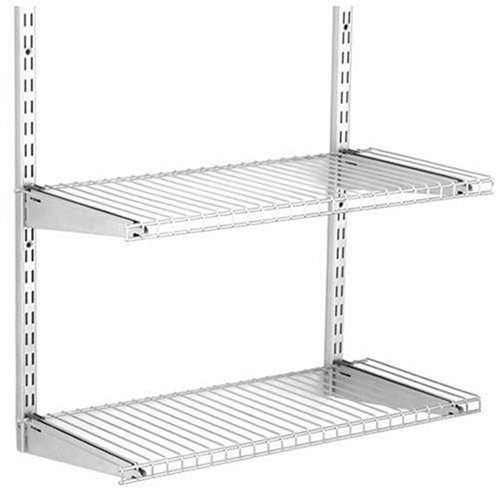 Classic Durable Closet Wardrobe Rubbermaid Shelving Kit Titanium