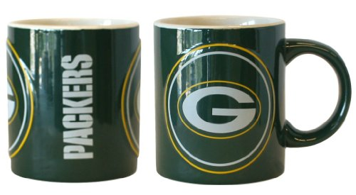Green Bay Packers Sculpted Warm Up Coffee Mug