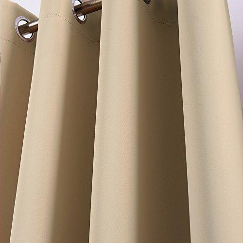 Nicetown Room Darkening Blackout Curtains - (Warm Beige/Cream ...