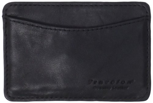Travelon Safe Id Leather Card Sleeve, Black, One Size