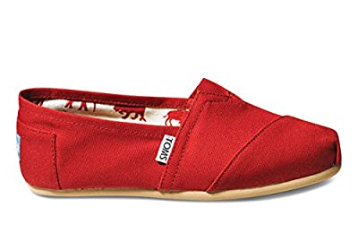 Toms Classic Red Canvas 001001B07 Womens