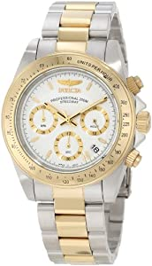 "Invicta Men's 9212 ""Speedway Collection"" 18k Gold Plating and Stainless Steel Two-Tone Watch"