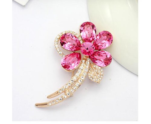 Austrian Swarovski Crystal Fashion Lady Pin Brooch -Beautiful and The Highest Quality Austrian Crystal with Elegant Flower Design 6.0cm W x 3.0 cm H Comes With Free Swarovski Jewelry Box,Attractive and Gorgeous . Super Saving w/100% Satisfaction Guaranteed ! A Great Gift For Your Friends or Loved Ones.