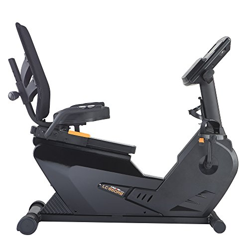 LifeCORE Fitness 860RB Recumbent Exercise Bike, Black Frame