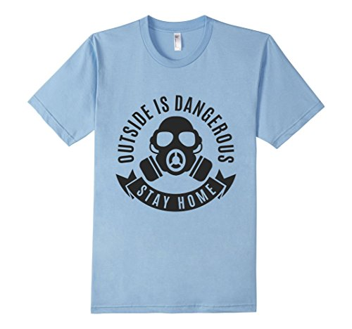 Mens-EmmaSaying-Outside-Is-Dangerous-Mask-Design-T-Shirt-Fun-Tee-Baby-Blue